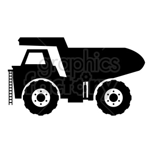 huge dump truck silhouette vector clipart clipart. Commercial use image # 416569
