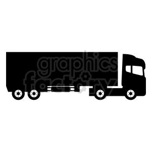 clipart - 18 wheeler truck vector clipart.
