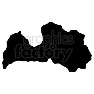 clipart - Lettonia silhouette vector graphic.