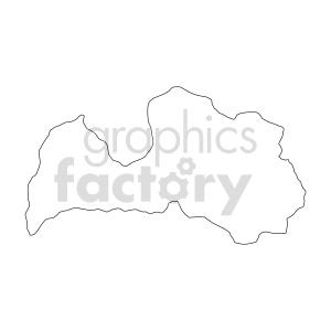 clipart - Lettonia outline vector.