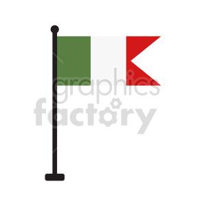 clipart - italy flag vector clipart.