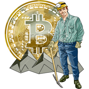 bitcoin miner vector clipart clipart. Commercial use image # 416678