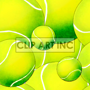 Tennis ball tiled background clipart. Royalty-free image # 128152