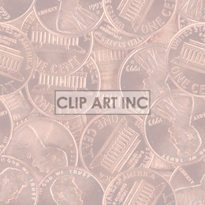 background backgrounds tiled bg money penny pennies 1 cent   102605-pennies-light backgrounds tiled