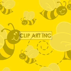 tiled bee background clipart. Commercial use image # 128192