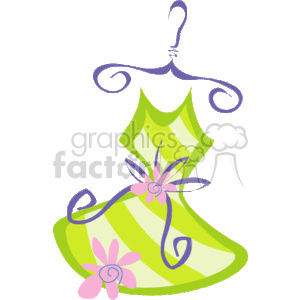 flower_dress_hanger_001 clipart. Commercial use image # 137314