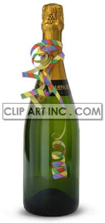 champagne wine ribbon party novelties streamer confetti bottles festivity celebration   2E5007lowres Photos Objects new years eve