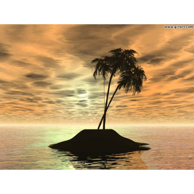 lone island wallpaper animation. Royalty-free animation # 178323