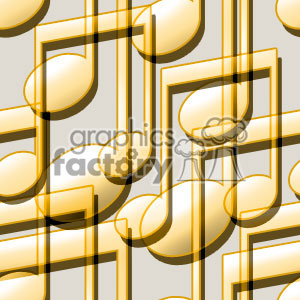 Music notes tiled background vector clip art image