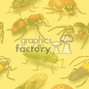 background backgrounds tile tiled seamless stationary email web page bug bugs insect insects wasp wasps spider spiders ladybugs ladybug yellow crickets cricket