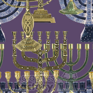 120306-menorah clipart. Commercial use image # 372633
