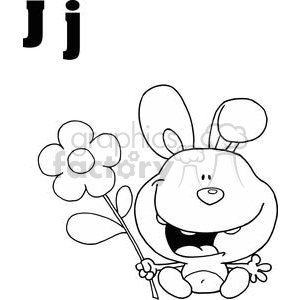 J as in Jackrabbit clipart. Commercial use image # 377977