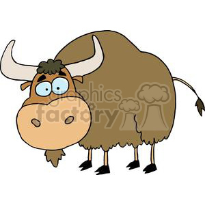 A Silly Brown Yak clipart. Royalty-free image # 377982