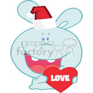 Christmas Romantic Bunny With Heart clipart. Royalty-free image # 377987