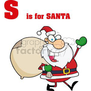 S as in Santa Clause clipart. Commercial use image # 378052