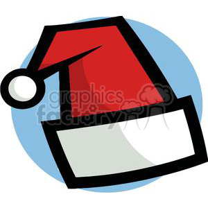 Santa Hat out lined in Black clipart. Commercial use image # 378182