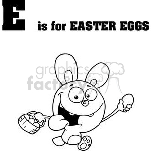 E as in Easter Eggs clipart. Royalty-free image # 378237