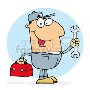 Mike The Mechanic clipart. Royalty-free image # 378252