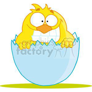 Happy Little Chick clipart. Royalty-free image # 378327