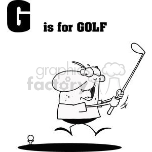 Golfer  clipart. Commercial use image # 378387