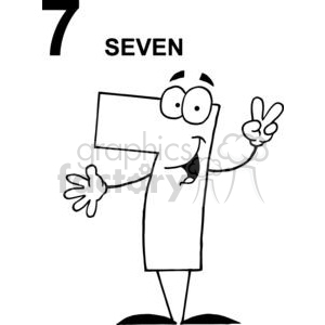 Happy Number 7 clipart. Royalty-free image # 378422