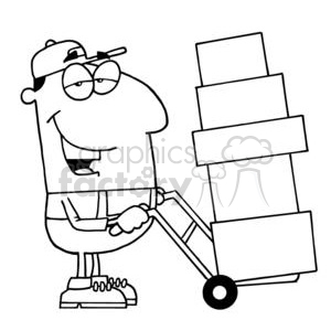 Mitch the Mover clipart. Commercial use image # 378432