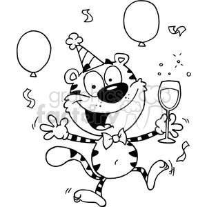 A Tiger Being A Party Animal clipart. Royalty-free image # 378457