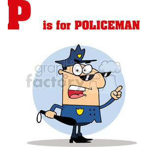 P is for Policeman clipart. Commercial use image # 378557