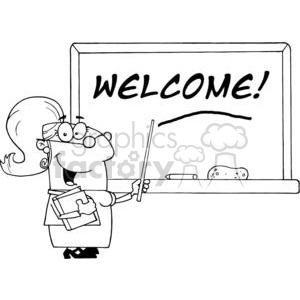 vector cartoon funny black white chalkboards chalkboard classroom welcome teacher teachers