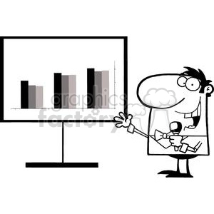 vector cartoon funny black white charts business revenue