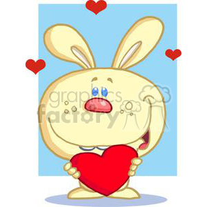 Yellow Cuddly Bunny Holding A Heart clipart. Royalty-free image # 379184