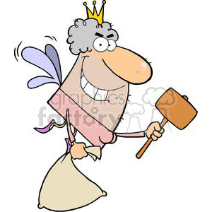 Tooth Fairy With An Evil Grin While Flying clipart. Royalty-free image # 379194