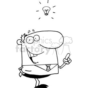 vector cartoon funny black white business idea