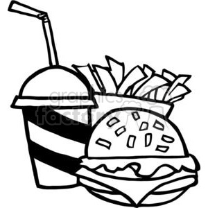 Fast Food Hamburger Drink And French Fries clipart. Commercial use image # 379259