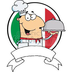 vector cartoon funny chef cook food italy