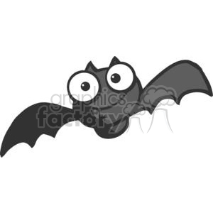 Cartoon Character Halloween Happy Bat clipart. Royalty-free image # 379309