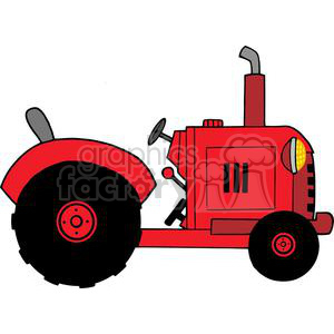 Vintage Red Farm Tractor clipart. Royalty-free image # 379329