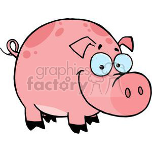 Cartoon Character Happy Pig clipart. Royalty-free image # 379344