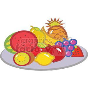 Plate Of Fruits clipart. Royalty-free icon # 379379