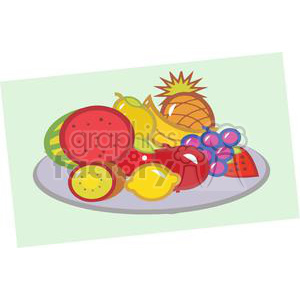 Plate Of Fruits clipart. Commercial use image # 379414