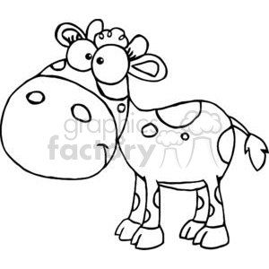 Black and white spotted Calf clipart. Commercial use image # 379444