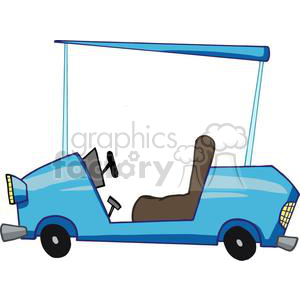 Cartoon Character Golf Car clipart. Commercial use image # 379469