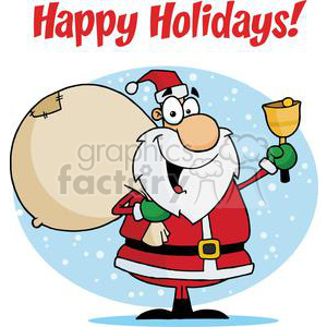 Holiday Greetings With Santa Claus clipart. Commercial use image # 379509