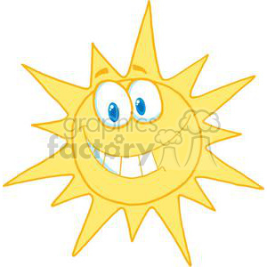 2281-Cartoon-Character-Smiling-Sun clipart. Royalty-free image # 379539