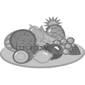 Plate Of Fruits clipart. Royalty-free image # 379559