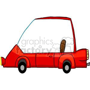 Cartoon red sports car