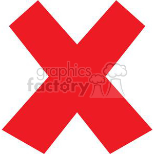 red x clipart. Royalty-free image # 379606