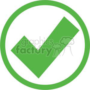 check mark approved passed circle round circled icon vector green