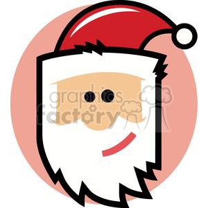 2344-Royalty-Free-Cartoon-Santa-Claus-Head clipart. Royalty-free image # 379656