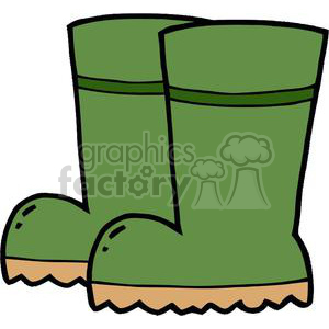 Green garden boots clipart. Commercial use image # 379661